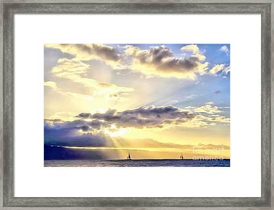 Peaceful Journey Framed Print by Krissy Katsimbras