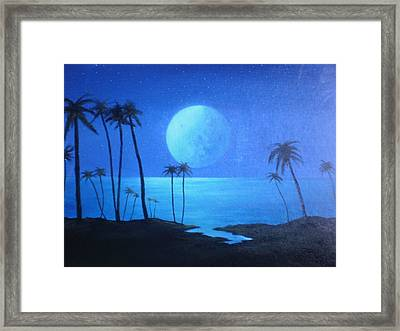 Peaceful Moonlit Night Framed Print by Michael Odom
