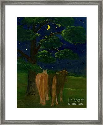 Peaceful Night Framed Print by Anna Folkartanna Maciejewska-Dyba