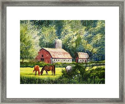 Peaceful Pasture Framed Print by Shirley Braithwaite Hunt