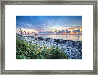 Peaceful Seas Framed Print by Debra and Dave Vanderlaan