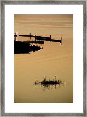 Peaceful Silhouettes Framed Print by Stephen St. John