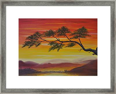 Peacefulness Framed Print by Georgeta  Blanaru