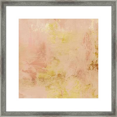 Peach Harvest- Abstract Art By Linda Woods. Framed Print by Linda Woods