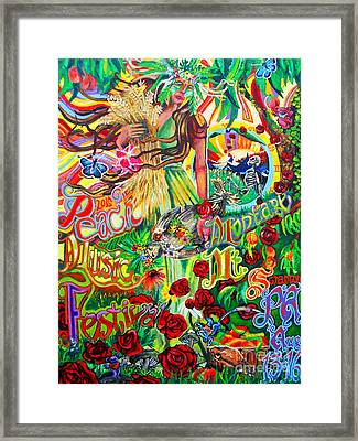 Peach Music Festival 2015 Framed Print by Kevin J Cooper Artwork