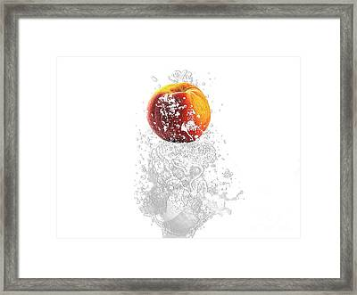 Peach Splash Framed Print by Marvin Blaine