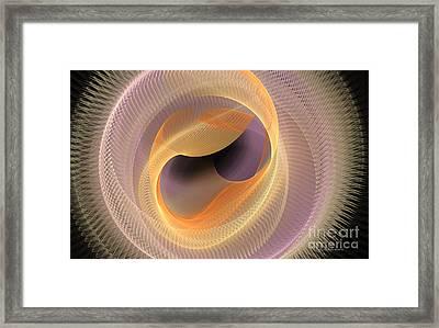 Peaches And Cream Framed Print by Deborah Benoit