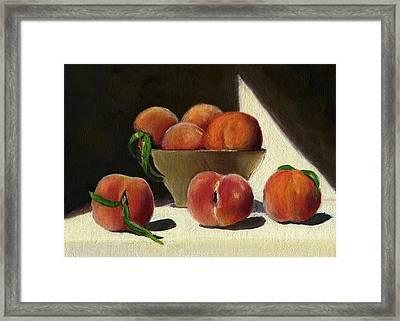 Peaches Framed Print by Karyn Robinson