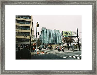 Peachtree And 7th St 2006 Winter Framed Print by Jake Hartz