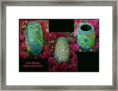 Peacock Bling Framed Print by Leslie Rhoades