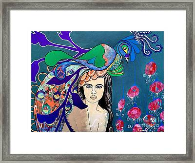 Peacock Bride Framed Print by Amy Sorrell