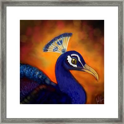 Peacock Cafe Digi Framed Print by Janal Koenig