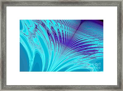 Peacock Framed Print by Clayton Bruster