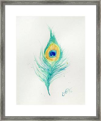 Peacock Feather 2 Framed Print by Oddball Art Co by Lizzy Love