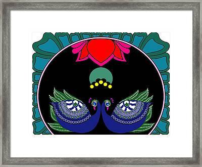 Peacocks-ii Framed Print by Pratyasha Nithin