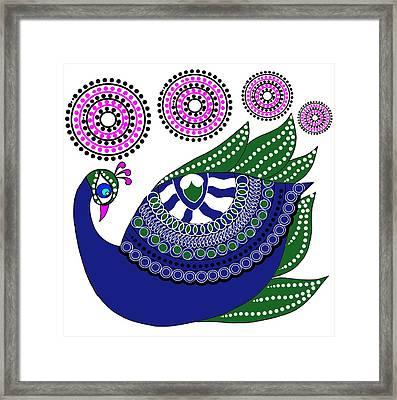 Peacocks Framed Print by Pratyasha Nithin