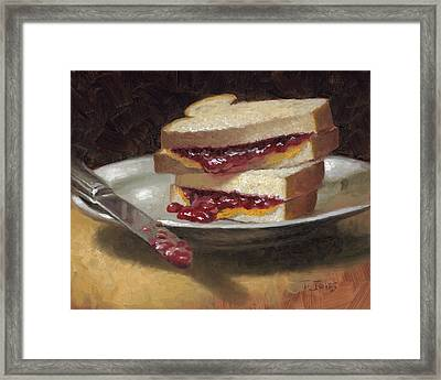 Peanut Butter Jelly Time Framed Print by Timothy Jones