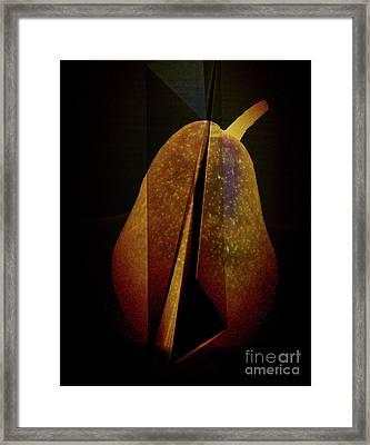 Pear Framed Print by Elena Nosyreva