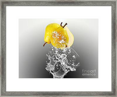 Pear Splash Collection Framed Print by Marvin Blaine