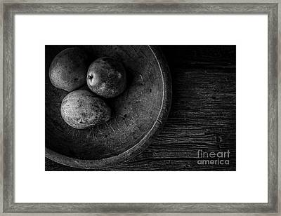 Pear Still Life In Black And White Framed Print by Edward Fielding
