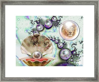 Pearl Of Great Price Framed Print by Dolores Develde