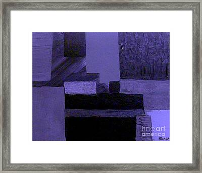 Pearlescent Purple Abstract Framed Print by Marsha Heiken
