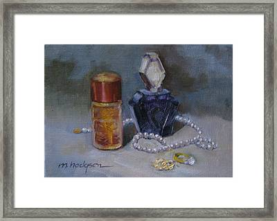 Pearls And Perfumes Framed Print by Margaret Hodgson