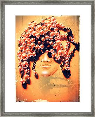 Pearls For Pigs Framed Print by Paulo Zerbato