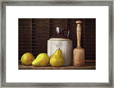 Pears And Jug Framed Print by Vicki McLead