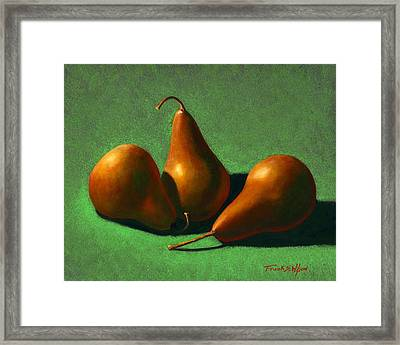 Pears Framed Print by Frank Wilson