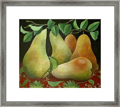 Pears Framed Print by Jennifer Abbot