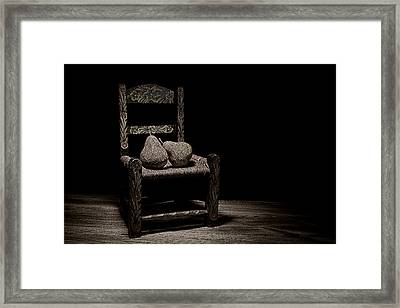 Pears On A Chair II Framed Print by Tom Mc Nemar