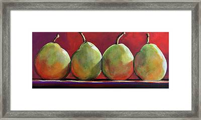 Peartastic Framed Print by Toni Grote