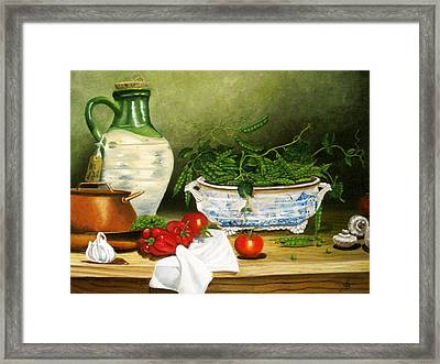 Peas In A Pod Framed Print by Richard F Barber
