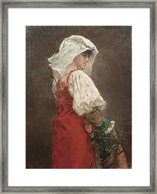 Peasant In Rome Framed Print by Mountain Dreams