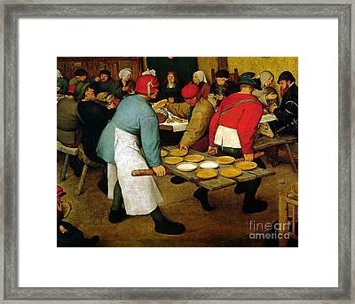 Peasant Wedding Framed Print by Pieter the Elder Bruegel