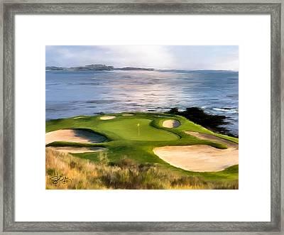 Pebble Beach No.7 Framed Print by Scott Melby
