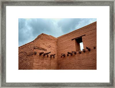 Pecos Timbered Ruins Framed Print by James Barber