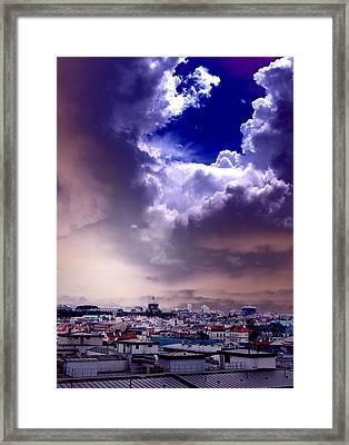 Peek Of Heaven Framed Print by Sarah Jean Sylvester