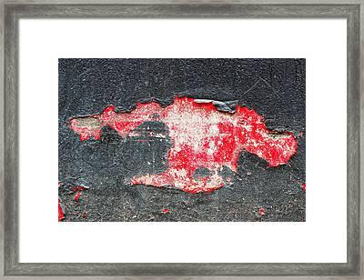 Peeling Wallpaper Framed Print by Tom Gowanlock