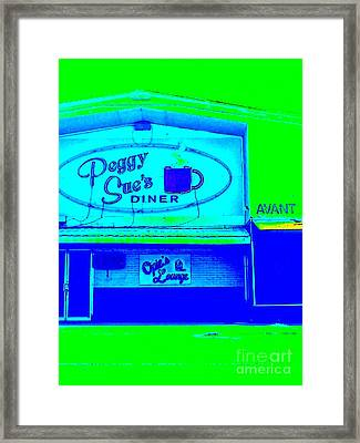 Peggy Sue's Diner Framed Print by Paula   Baker