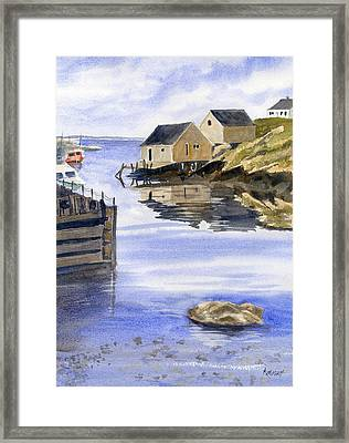 Peggys Cove Framed Print by Marsha Elliott