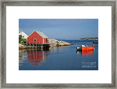 Peggys Cove Framed Print by Thomas Marchessault