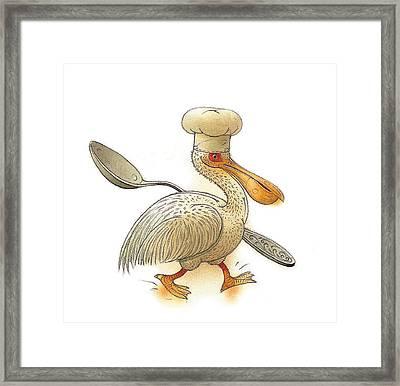Pelican Framed Print by Kestutis Kasparavicius