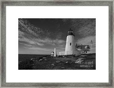 Pemaquid Black And White Framed Print by Timothy Johnson