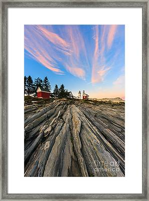 Pemaquid Point Lighthouse Framed Print by Henk Meijer Photography