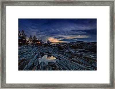 Pemaquid Reflections Framed Print by Rick Berk