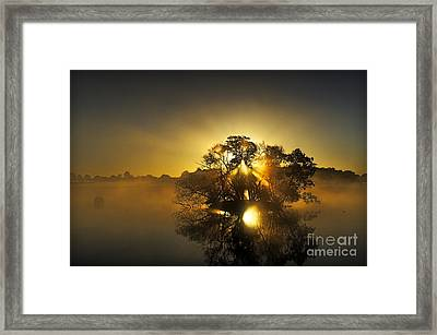Pen Ponds Sunrise Framed Print by Richard Allen