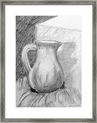 Pencil Pitcher Framed Print by Jamie Frier