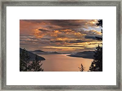 Pend Oreille Sunrise Framed Print by Leland D Howard